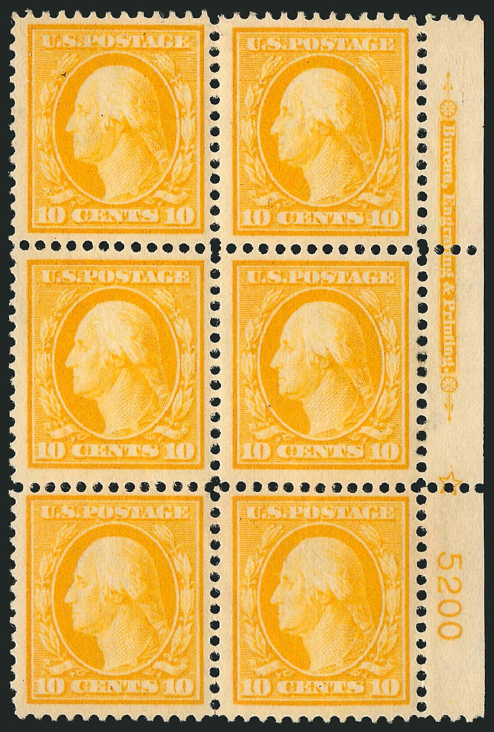 Cost of US Stamp Scott Cat. # 381: 1911 10c Washington Perf 12. Robert Siegel Auction Galleries, Apr 2015, Sale 1096, Lot 624