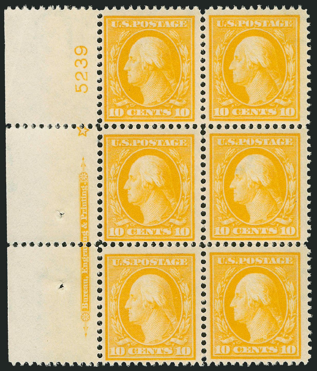 Cost of US Stamp Scott 381 - 1911 10c Washington Perf 12. Robert Siegel Auction Galleries, Sep 2014, Sale 1078, Lot 495