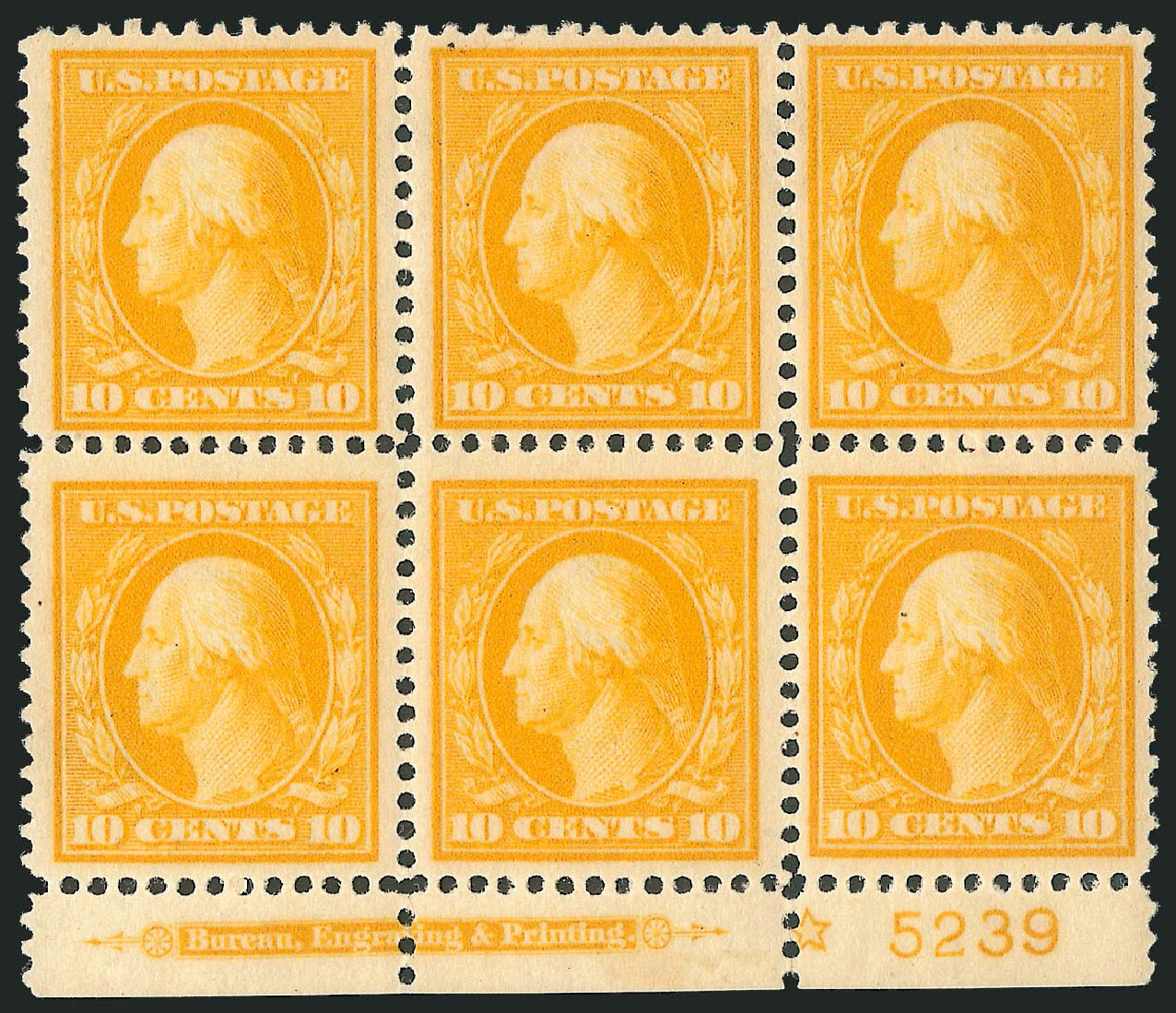 US Stamp Prices Scott Catalog # 381: 1911 10c Washington Perf 12. Robert Siegel Auction Galleries, Apr 2014, Sale 1068, Lot 252