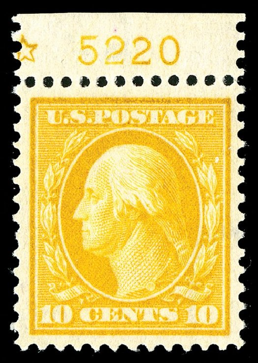 US Stamps Price Scott #381: 10c 1911 Washington Perf 12. Spink Shreves Galleries, May 2014, Sale 148, Lot 282