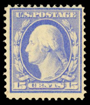 Cost of US Stamp Scott 382 - 15c 1911 Washington Perf 12. Daniel Kelleher Auctions, May 2015, Sale 669, Lot 2939