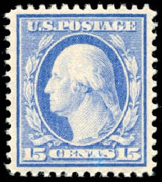 Costs of US Stamp Scott Cat. # 382: 1911 15c Washington Perf 12. Schuyler J. Rumsey Philatelic Auctions, Apr 2015, Sale 60, Lot 2359