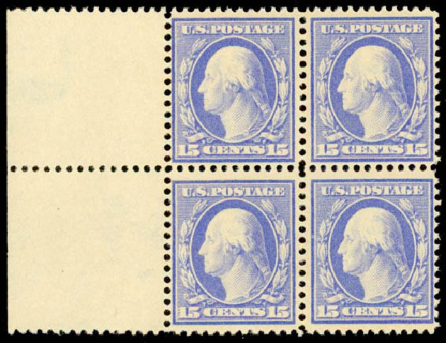 Values of US Stamp Scott Cat. #382: 15c 1911 Washington Perf 12. Daniel Kelleher Auctions, May 2015, Sale 669, Lot 2940