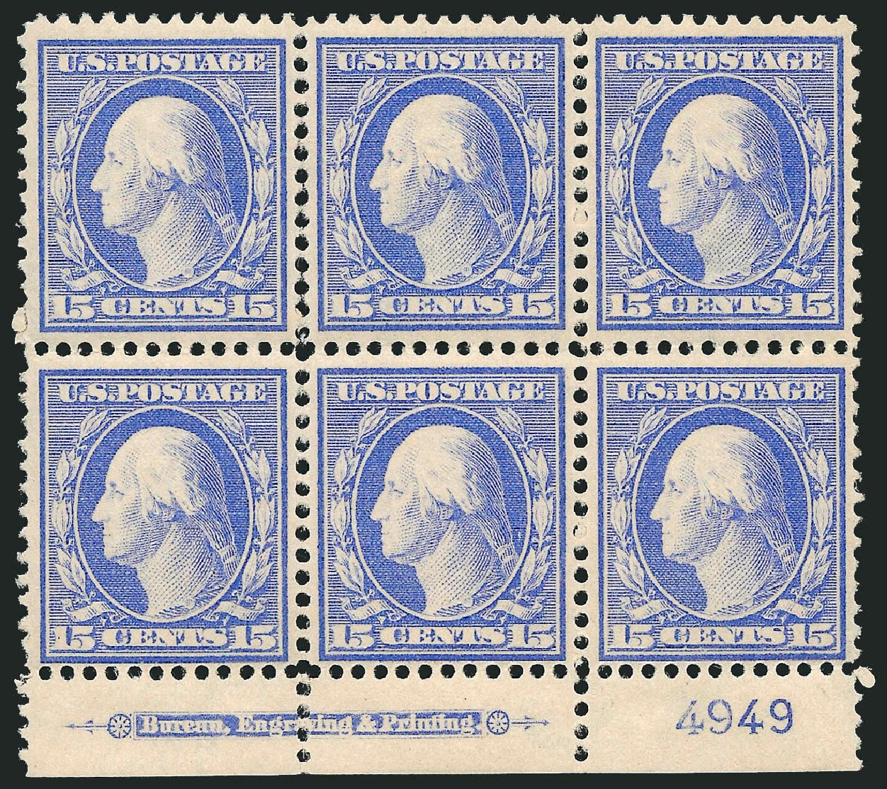 Price of US Stamps Scott # 382: 1911 15c Washington Perf 12. Robert Siegel Auction Galleries, Apr 2015, Sale 1096, Lot 625
