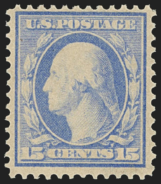 Prices of US Stamps Scott # 382 - 1911 15c Washington Perf 12. Robert Siegel Auction Galleries, Jul 2015, Sale 1107, Lot 442