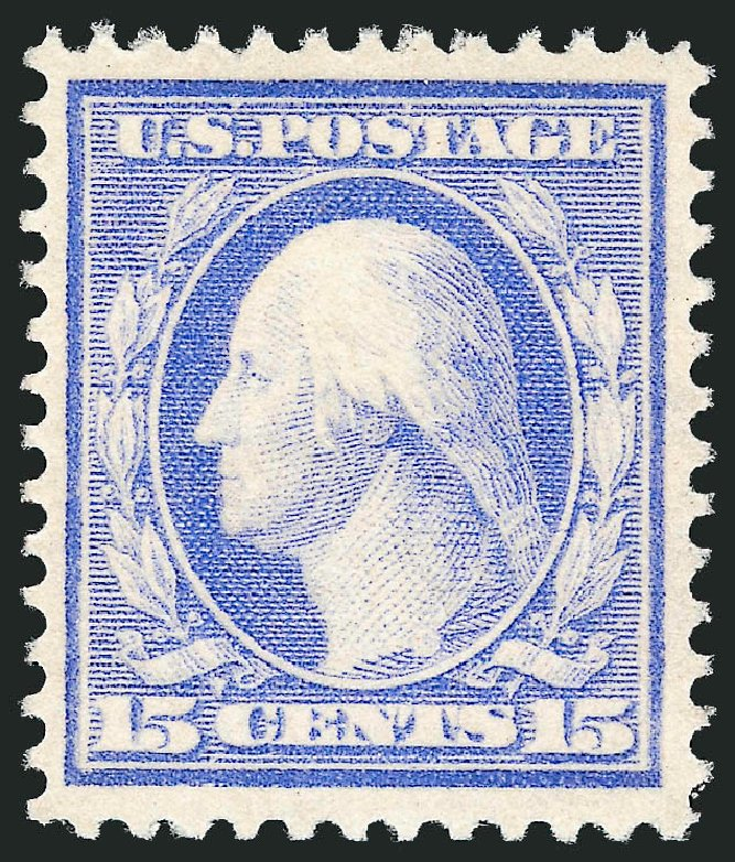 Costs of US Stamps Scott 382: 1911 15c Washington Perf 12. Robert Siegel Auction Galleries, Dec 2014, Sale 1090, Lot 1483