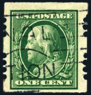 Costs of US Stamp Scott Cat. #383: 1c 1911 Franklin Imperf. Harmer-Schau Auction Galleries, Aug 2011, Sale 90, Lot 1864