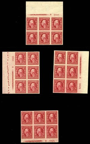 Values of US Stamps Scott #384: 2c 1910 Washington Imperf. Harmer-Schau Auction Galleries, Feb 2012, Sale 92, Lot 1127