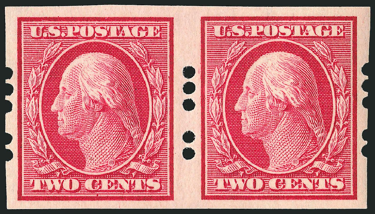 Cost of US Stamps Scott Cat. #384: 2c 1910 Washington Imperf. Robert Siegel Auction Galleries, Dec 2008, Sale 967, Lot 4548