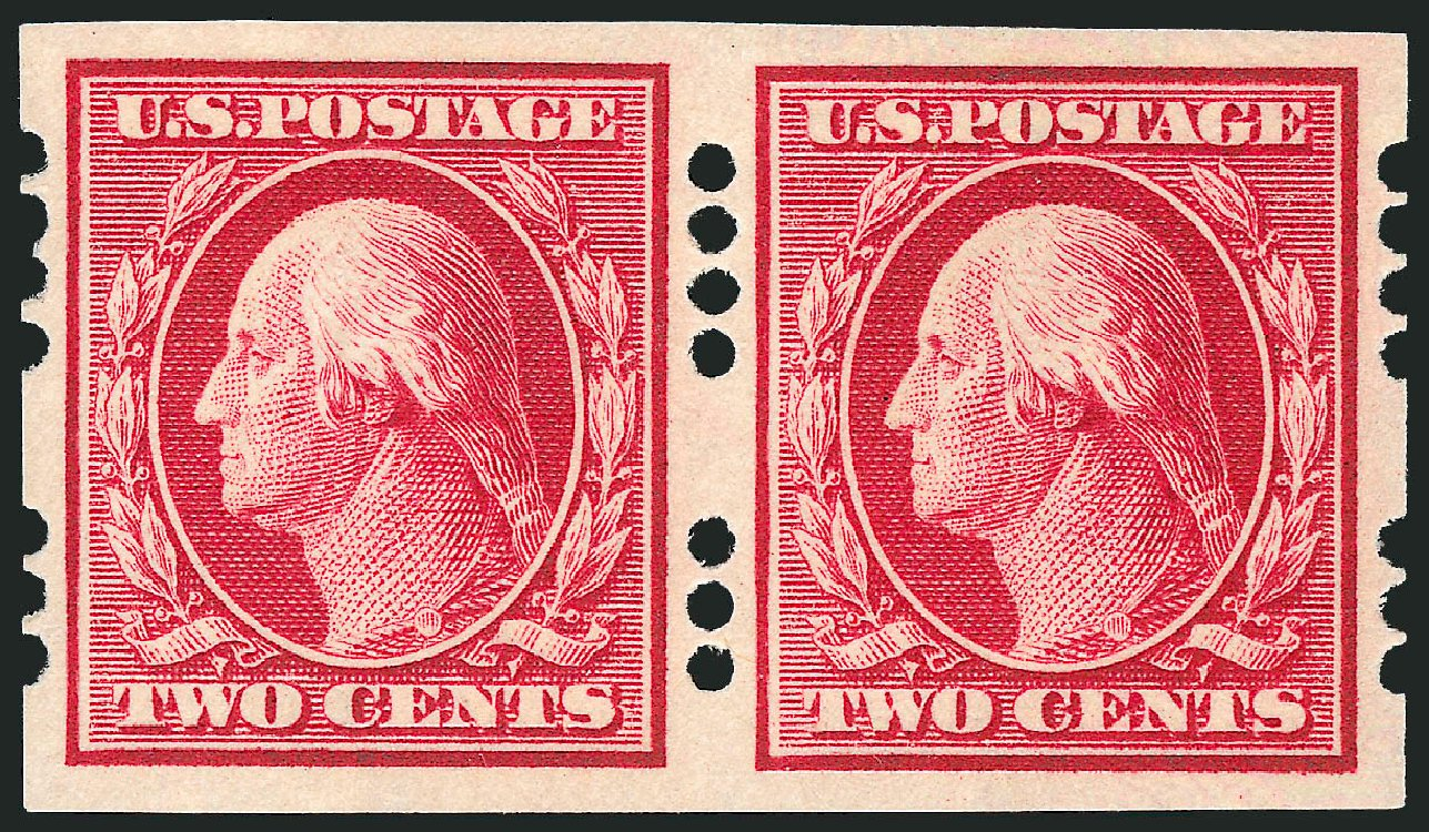 Values of US Stamps Scott Cat. #384: 2c 1910 Washington Imperf. Robert Siegel Auction Galleries, Dec 2008, Sale 967, Lot 4551