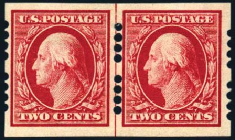 Price of US Stamps Scott Catalog # 384: 1910 2c Washington Imperf. Harmer-Schau Auction Galleries, Aug 2011, Sale 90, Lot 1865