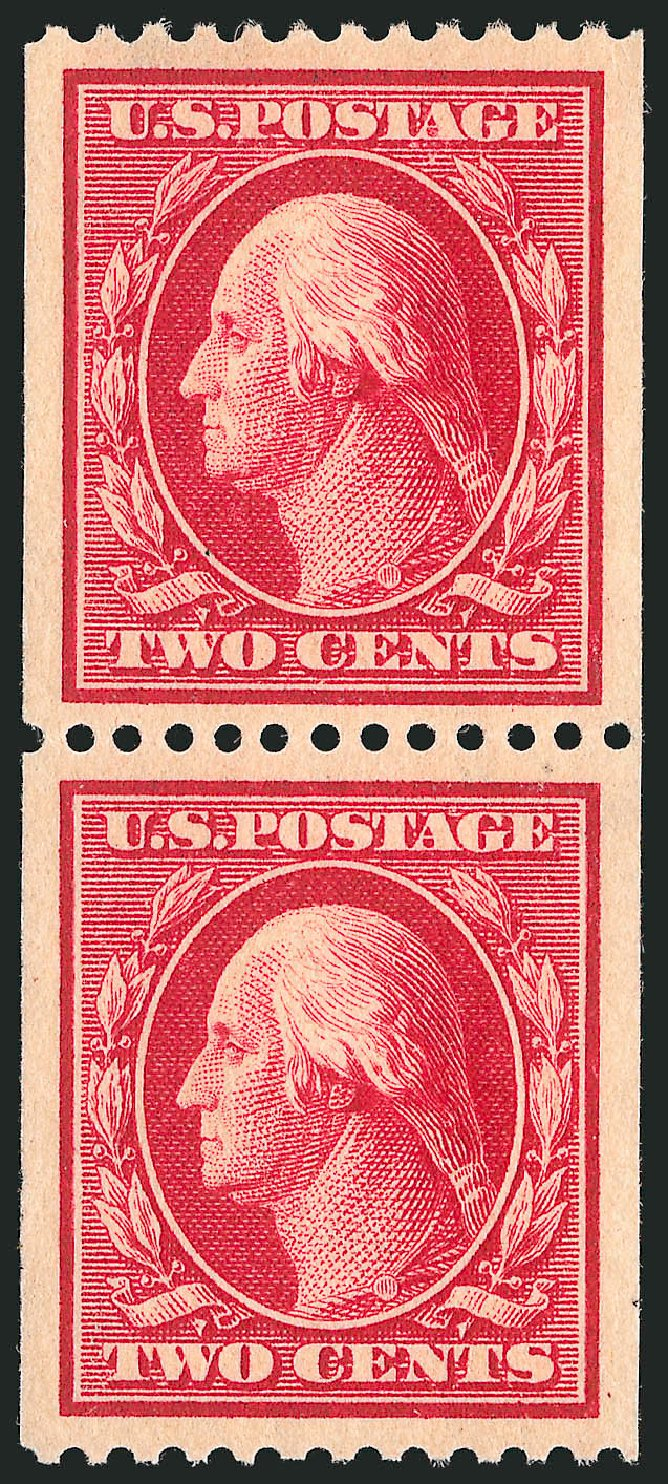 Prices of US Stamps Scott Catalog 386: 1910 2c Washington Coil. Robert Siegel Auction Galleries, Apr 2015, Sale 1096, Lot 627