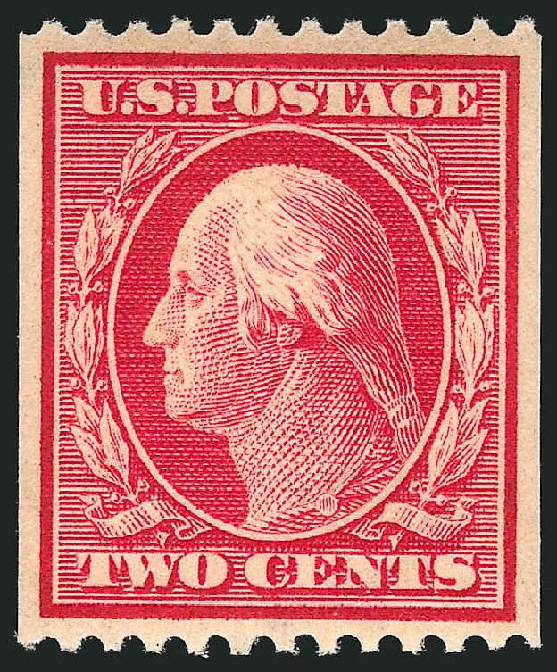US Stamps Values Scott Cat. # 386 - 2c 1910 Washington Coil. Robert Siegel Auction Galleries, Apr 2015, Sale 1096, Lot 628