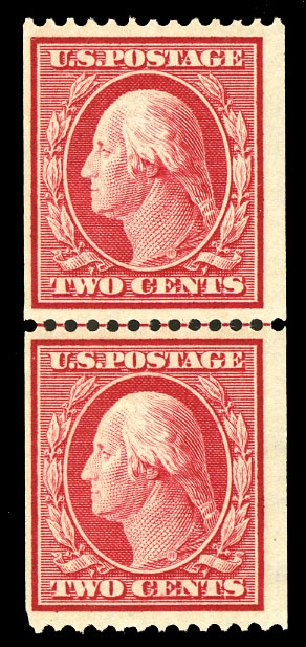 Values of US Stamp Scott Cat. #386: 2c 1910 Washington Coil. Cherrystone Auctions, Jul 2015, Sale 201507, Lot 2139