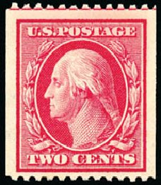 Prices of US Stamps Scott Cat. # 386 - 1910 2c Washington Coil. Schuyler J. Rumsey Philatelic Auctions, Apr 2015, Sale 60, Lot 2360