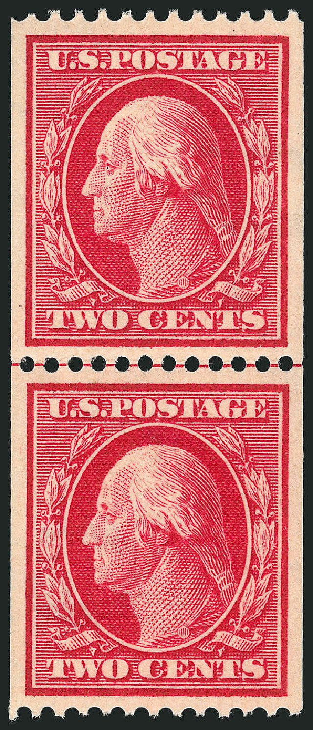Costs of US Stamps Scott Catalog # 386 - 1910 2c Washington Coil. Robert Siegel Auction Galleries, Feb 2015, Sale 1093, Lot 204