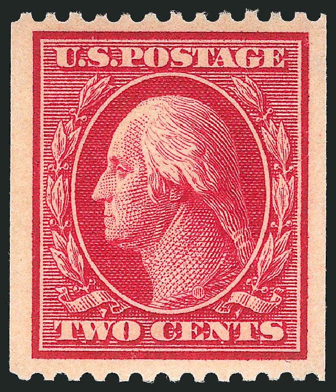 Prices of US Stamp Scott Cat. # 386: 2c 1910 Washington Coil. Robert Siegel Auction Galleries, Dec 2014, Sale 1090, Lot 1485