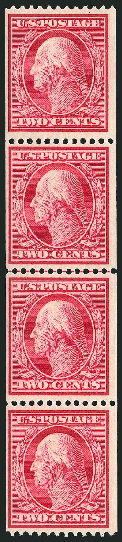 Cost of US Stamps Scott Catalog 386: 1910 2c Washington Coil. Robert Siegel Auction Galleries, Feb 2015, Sale 1093, Lot 205