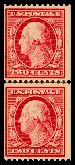 Price of US Stamps Scott Catalog #386 - 2c 1910 Washington Coil. Daniel Kelleher Auctions, May 2015, Sale 669, Lot 2943
