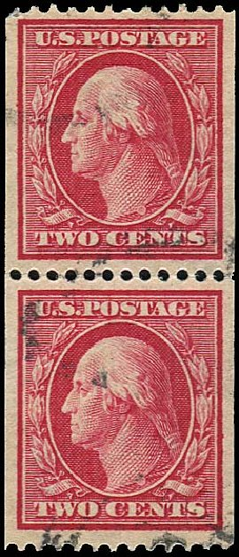 Value of US Stamps Scott Cat. 386: 1910 2c Washington Coil. Regency-Superior, Aug 2015, Sale 112, Lot 773