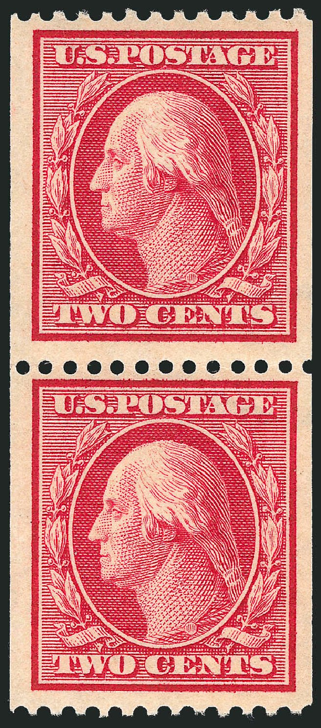 Value of US Stamps Scott Catalogue 386: 1910 2c Washington Coil. Robert Siegel Auction Galleries, Feb 2015, Sale 1093, Lot 203