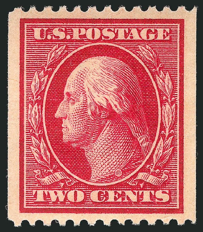 Cost of US Stamp Scott Catalog 386: 1910 2c Washington Coil. Robert Siegel Auction Galleries, Feb 2015, Sale 1092, Lot 1296