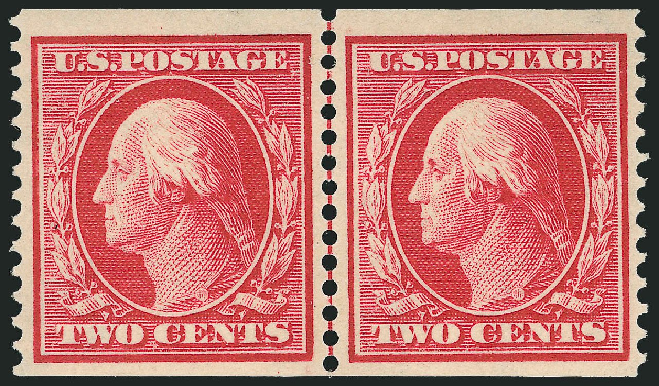 US Stamps Value Scott Catalogue # 388 - 2c 1910 Washington Coil. Robert Siegel Auction Galleries, Dec 2013, Sale 1062, Lot 567