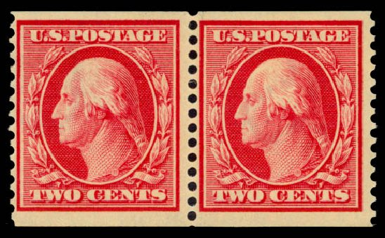 Price of US Stamps Scott # 388: 1910 2c Washington Coil. Daniel Kelleher Auctions, Jan 2015, Sale 663, Lot 1739