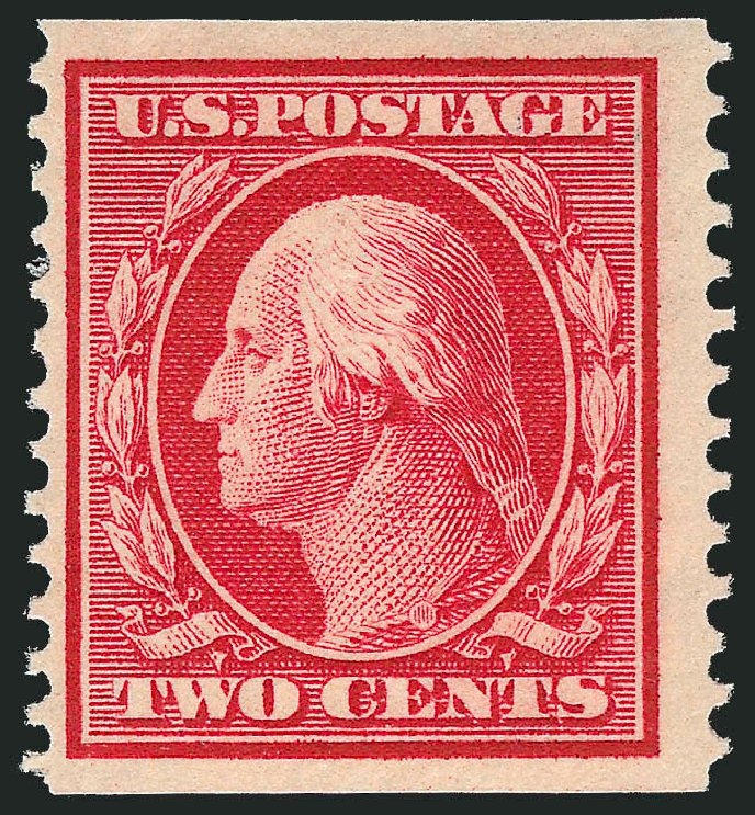 Value of US Stamps Scott Catalogue 388: 2c 1910 Washington Coil. Robert Siegel Auction Galleries, Mar 2014, Sale 1067, Lot 1469
