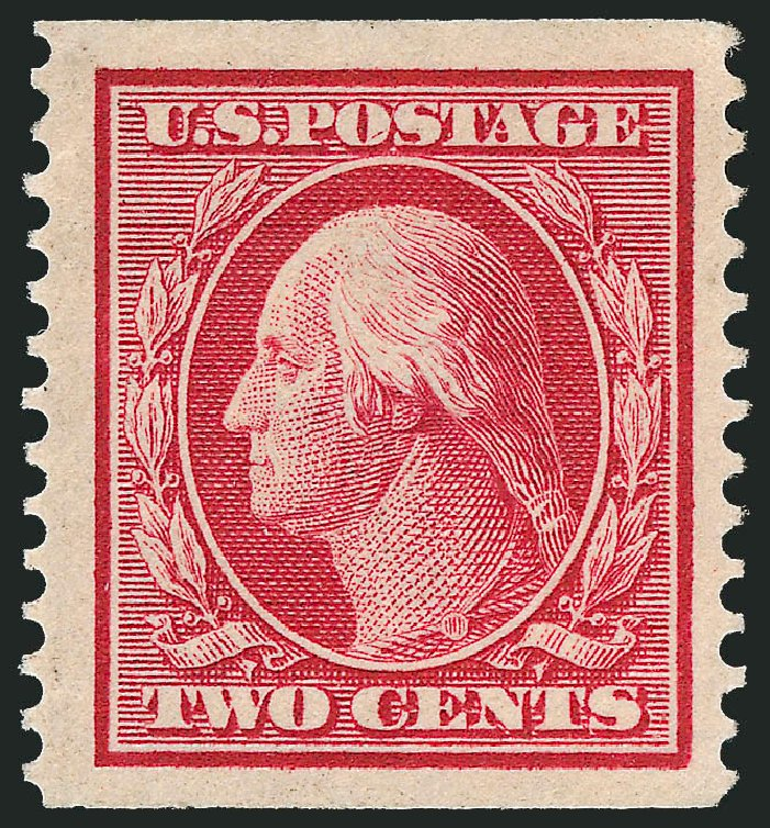 Prices of US Stamp Scott Catalog #388: 2c 1910 Washington Coil. Robert Siegel Auction Galleries, Feb 2015, Sale 1093, Lot 209