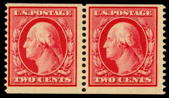 Price of US Stamps Scott Catalogue #388 - 2c 1910 Washington Coil. Daniel Kelleher Auctions, Sep 2013, Sale 639, Lot 1140