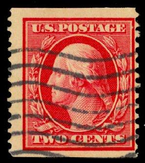Price of US Stamps Scott Catalog 388: 2c 1910 Washington Coil. Daniel Kelleher Auctions, Dec 2013, Sale 640, Lot 350