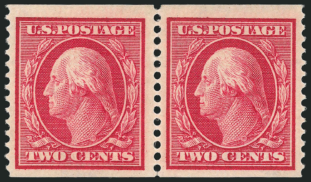 Price of US Stamps Scott Catalog #388: 1910 2c Washington Coil. Robert Siegel Auction Galleries, Feb 2015, Sale 1093, Lot 210