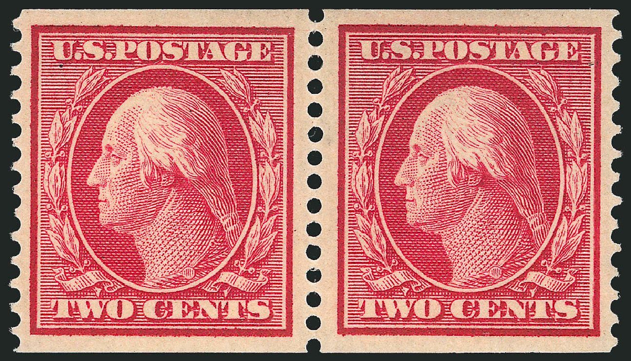Prices of US Stamp Scott #388 - 1910 2c Washington Coil. Robert Siegel Auction Galleries, Apr 2015, Sale 1096, Lot 630