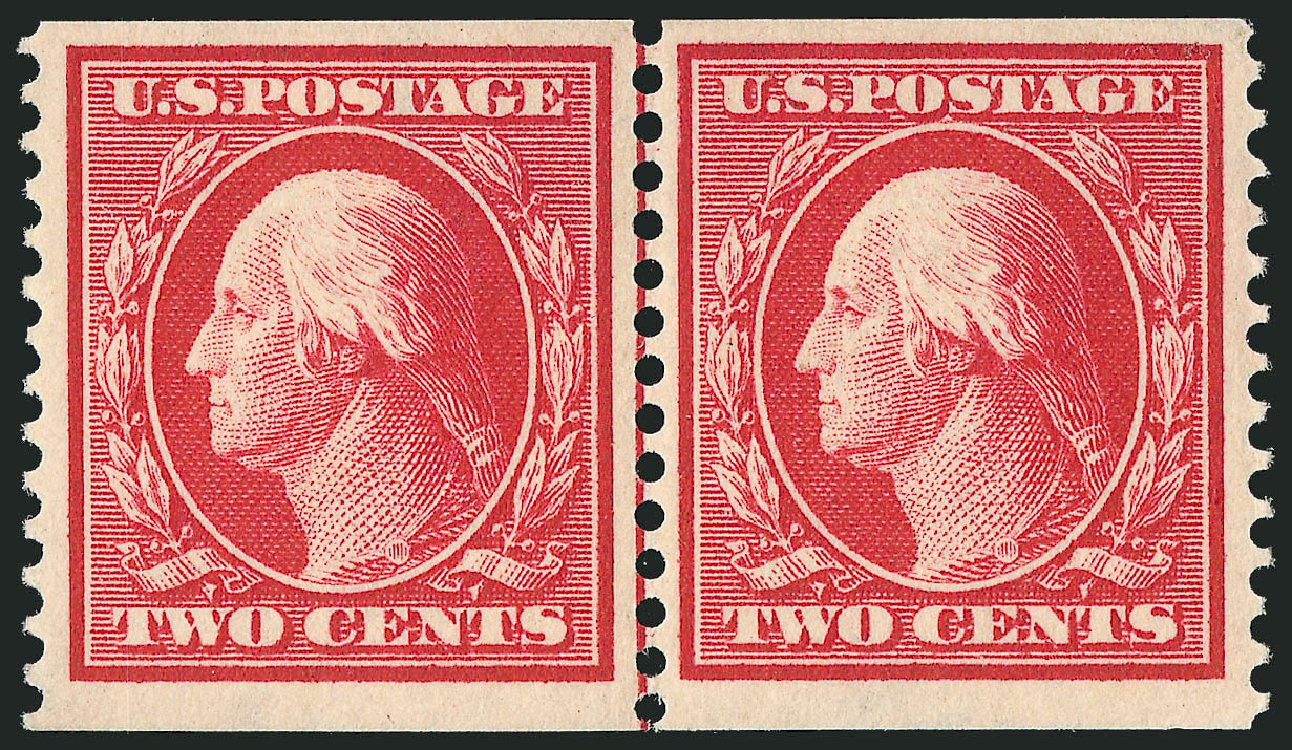 US Stamp Price Scott 388: 1910 2c Washington Coil. Robert Siegel Auction Galleries, Feb 2015, Sale 1093, Lot 211