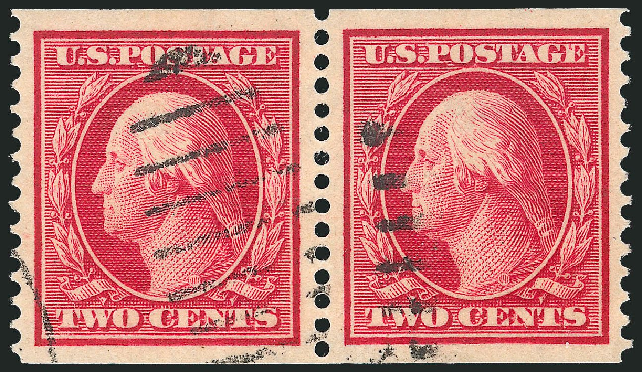 Values of US Stamp Scott Catalogue # 388: 2c 1910 Washington Coil. Robert Siegel Auction Galleries, Apr 2015, Sale 1096, Lot 631