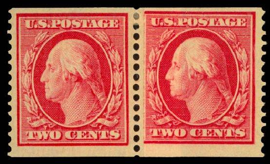 Prices of US Stamp Scott Cat. 388: 2c 1910 Washington Coil. Daniel Kelleher Auctions, May 2014, Sale 652, Lot 574