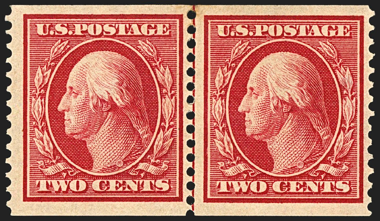 Value of US Stamp Scott # 388 - 2c 1910 Washington Coil. Robert Siegel Auction Galleries, Jul 2015, Sale 1107, Lot 445