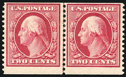 US Stamps Price Scott #388 - 1910 2c Washington Coil. Schuyler J. Rumsey Philatelic Auctions, Apr 2015, Sale 60, Lot 2362