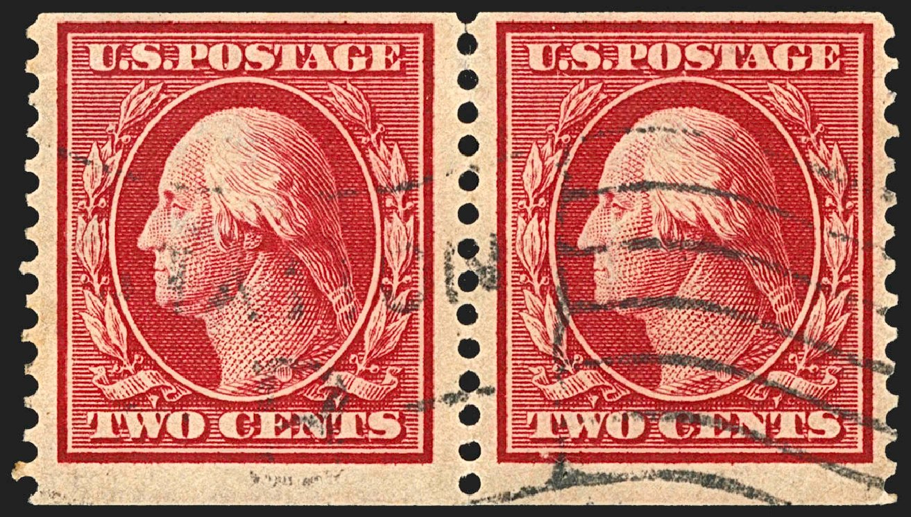 US Stamps Prices Scott Catalogue #388: 2c 1910 Washington Coil. Robert Siegel Auction Galleries, Jul 2015, Sale 1107, Lot 446