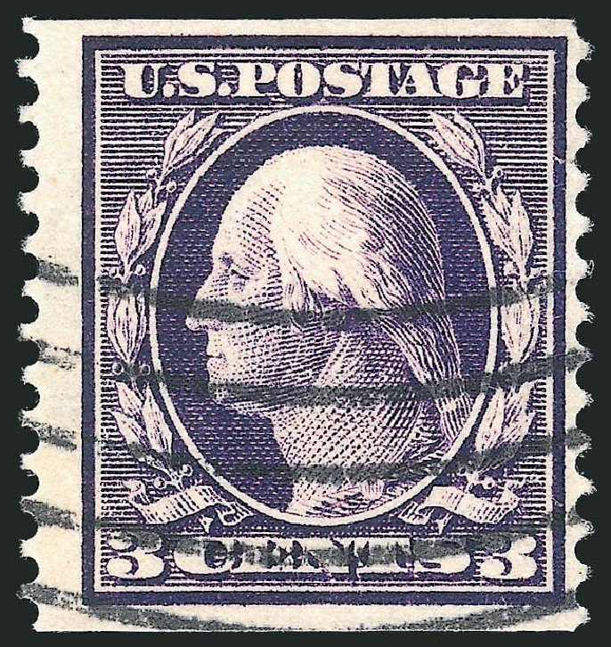 US Stamps Prices Scott Catalog # 389 - 3c 1911 Washington Coil. Robert Siegel Auction Galleries, May 2013, Sale 1044, Lot 261