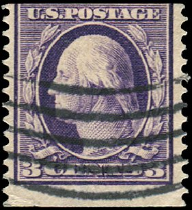 US Stamp Price Scott Catalogue #389: 3c 1911 Washington Coil. Regency-Superior, Aug 2015, Sale 112, Lot 775