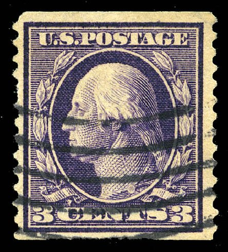 US Stamp Price Scott Catalog 389: 1911 3c Washington Coil. Matthew Bennett International, Feb 2015, Sale 351, Lot 176