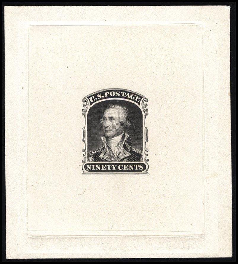 US Stamp Value Scott Catalog 39: 90c 1860 Washington. Cherrystone Auctions, Jul 2015, Sale 201507, Lot 27