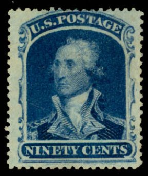Price of US Stamps Scott Cat. #39 - 90c 1860 Washington. Daniel Kelleher Auctions, May 2015, Sale 669, Lot 2475
