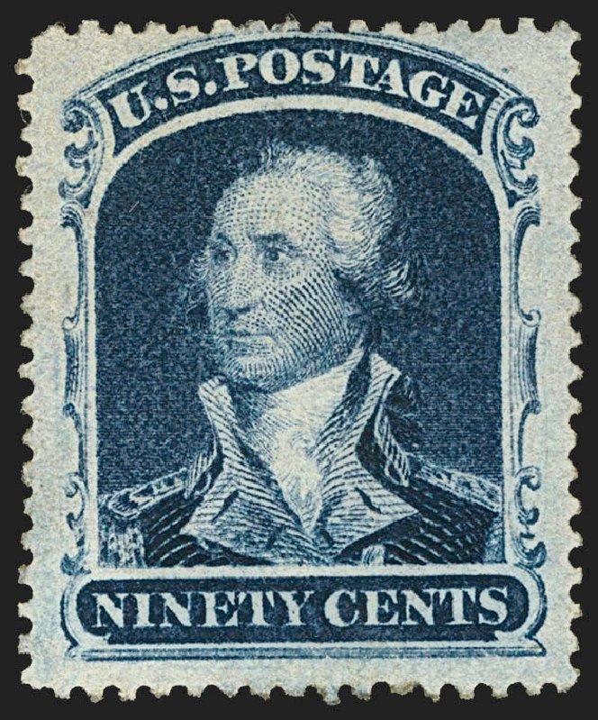 Price of US Stamp Scott Catalog # 39 - 1860 90c Washington. Robert Siegel Auction Galleries, Jul 2015, Sale 1107, Lot 102
