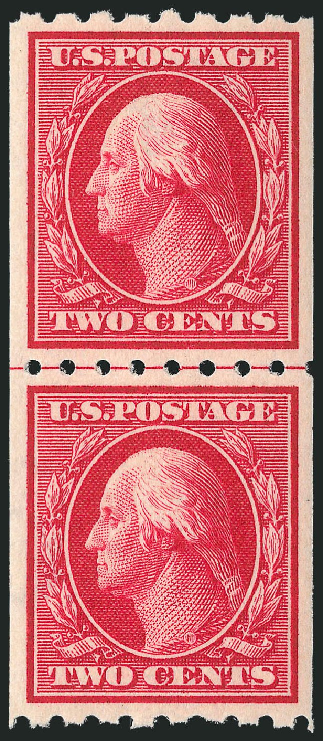 US Stamp Prices Scott Catalogue # 391: 2c 1910 Washington Coil. Robert Siegel Auction Galleries, Jul 2013, Sale 1050, Lot 517