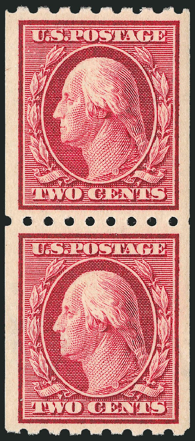 Cost of US Stamp Scott # 391: 1910 2c Washington Coil. Robert Siegel Auction Galleries, Feb 2015, Sale 1093, Lot 217