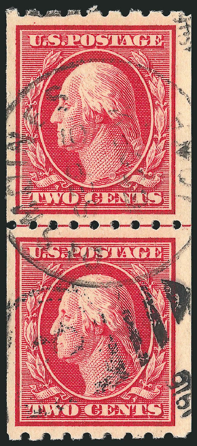 Costs of US Stamp Scott Catalogue 391 - 2c 1910 Washington Coil. Robert Siegel Auction Galleries, Feb 2015, Sale 1093, Lot 218