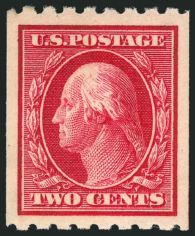 Price of US Stamps Scott # 391: 1910 2c Washington Coil. Robert Siegel Auction Galleries, Mar 2013, Sale 1040, Lot 1759